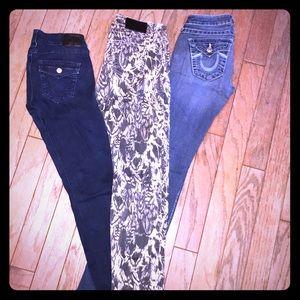 Bundle of 3 True Religion Jeans